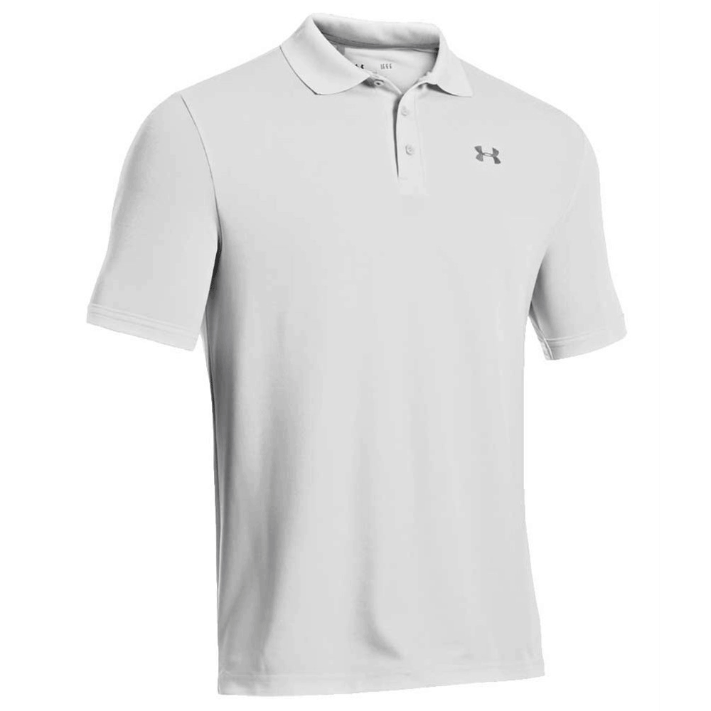 under armour performance 2 0 tour logo golf polo shirt white hotgolf. Black Bedroom Furniture Sets. Home Design Ideas