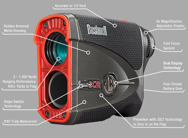 Bushnell Pro X2 Golf Laser Rangefinder Hotgolf