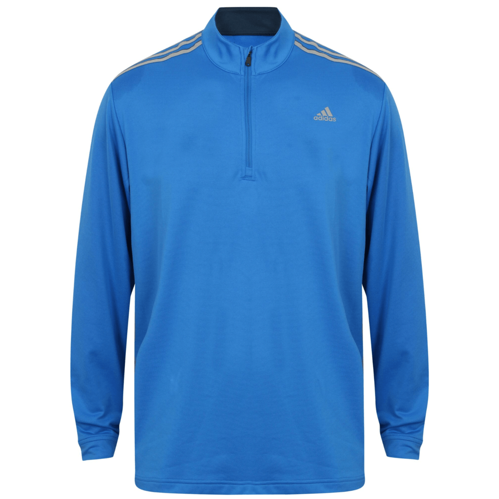adidas 3 stripes french terry pullover blast blue hotgolf. Black Bedroom Furniture Sets. Home Design Ideas