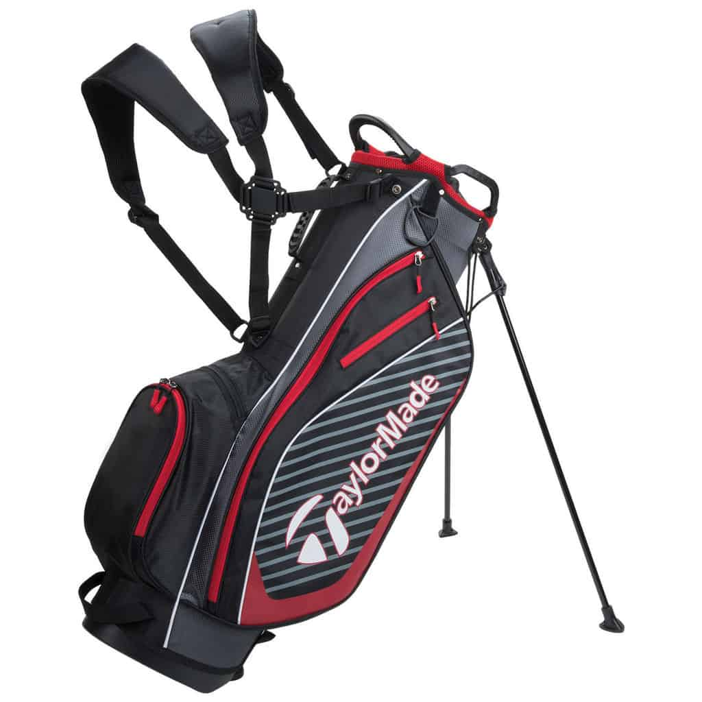 Taylormade Pro 6 0 Stand Carry Bag Black Red Hotgolf