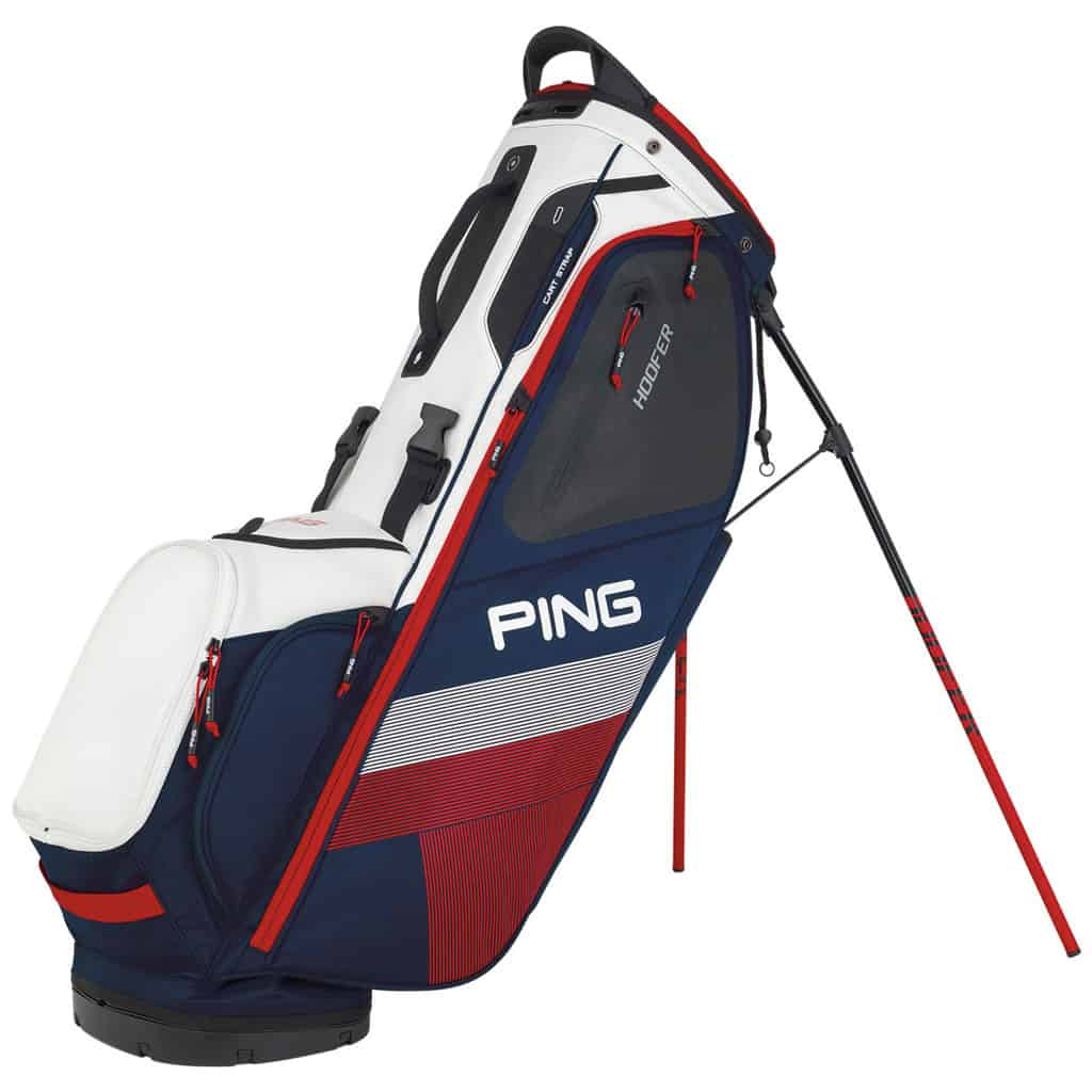 6c8b04319c PING 2019 HOOFER GOLF STAND CARRY BAG - NAVY   WHITE   RED - HOTGOLF
