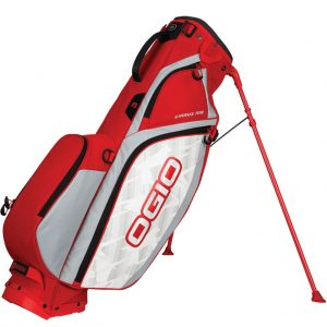 OGIO CIRRUS MB DUAL STRAP GOLF STAND CARRY BAG / RED