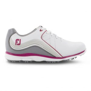 FOOTJOY PRO SL LADIES GOLF SHOES 98101 / WHITE / GREY / FUCHSIA