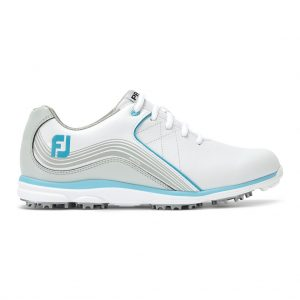 FOOTJOY PRO SL LADIES GOLF SHOES 98103 / WHITE / SILVER / BLUE