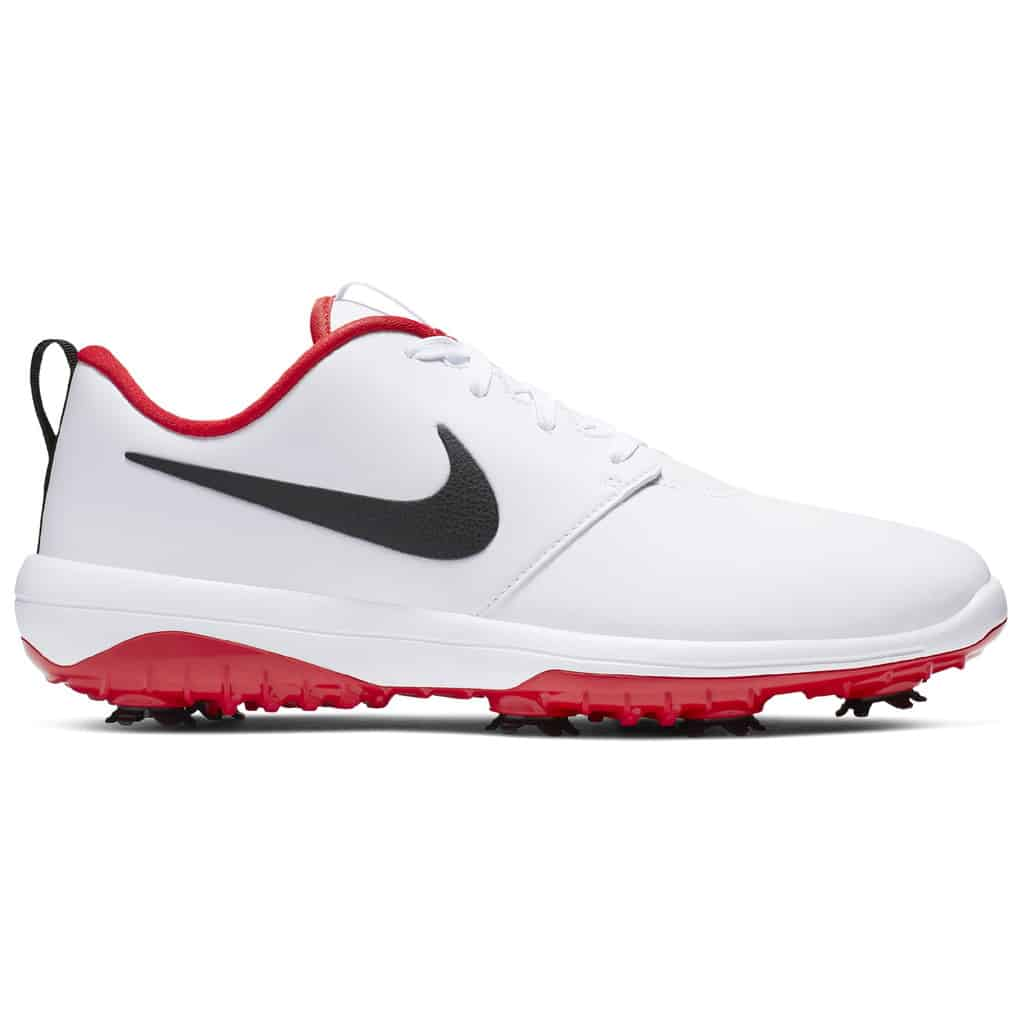 15263919a6d3 NIKE ROSHE G TOUR MENS GOLF SHOES - WHITE   UNIVERSITY RED - HOTGOLF