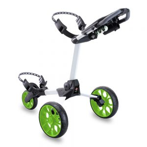 STEWART R1-S 3 WHEEL GOLF PUSH TROLLEY – WHITE / GREEN