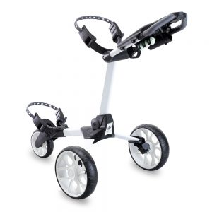 STEWART R1-S 3 WHEEL GOLF PUSH TROLLEY – WHITE / WHITE